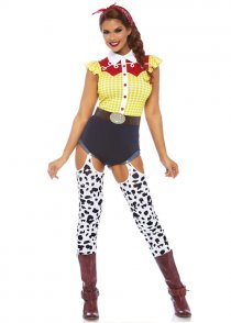 Womens Jessie Style Giddy Up Cowgirl Costume