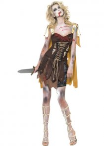 Ladies Zombie Roman Gladiator Costume