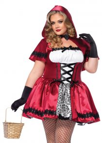 Plus Size Gothic Red Riding Hood Costume