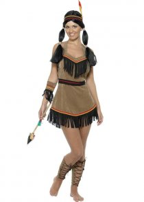 Adult Western Indian Woman Squaw Costume