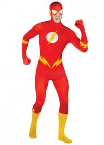 Adult Size The Flash 2nd Skin Jumpsuit Costume