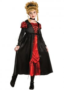 Kids Gothic Vampiress Girl Costume