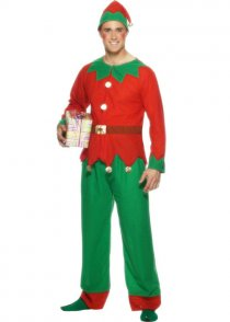 Adult Mens Elf Fancy Dress Costume