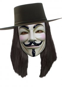 Adult V For Vendetta Black Wig