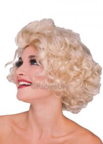 Womens Curly Blonde Hollywood Starlet Wig