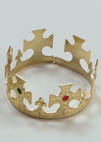 Christmas Nativity Gold Plastic Crown