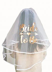 Luxury Rose Gold Bride To Be Veil