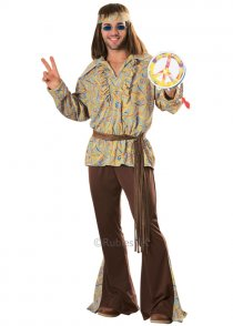 Mens 70s Hippy Mod Marvin Costume