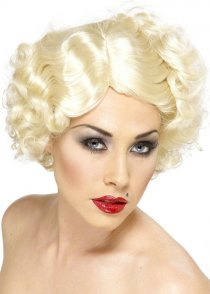 Marilyn Style Blonde Curly Hollywood Icon Wig