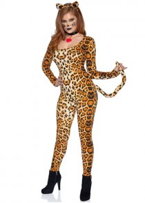 Womens Cougar Leopard Costume
