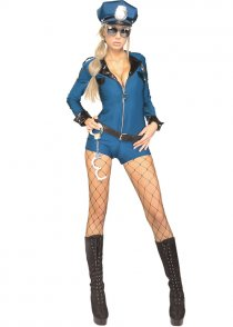 Sexy Cop Police Woman Miss Demeanor Costume
