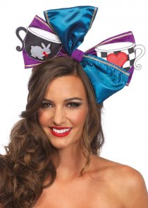 Large Mad Hatter Wonderland Hair Bow