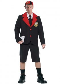 Adult Size Mens Schoolboy Uniform Costume