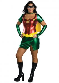 Womens Plus Size Robin Superhero Costume