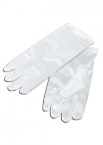 Childs Size Fancy Dress White Gloves