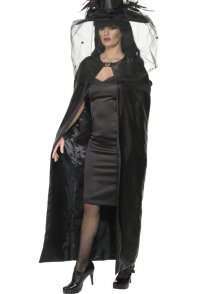 Deluxe Adult Gothic Black Witches Cape