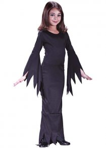 Childs Size Halloween Morticia Girl Costume