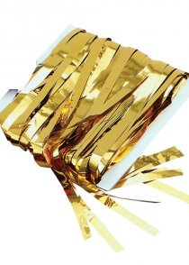 Gold Tinsel Curtain Party Decoration