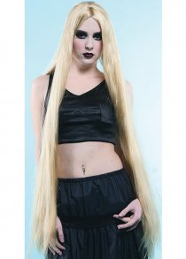 "Gothic Ladies Extra Long Blonde 40"" Wig"