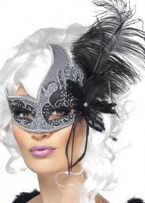 Black and Silver Dark Angel Masquerade Eyemask