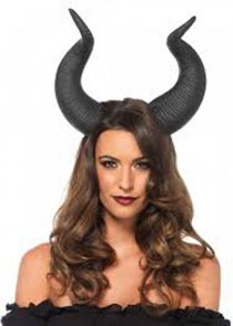 Maleficent Style Large Black Animal Horns