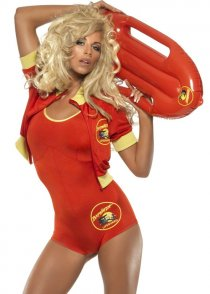 Adult Ladies Sexy Baywatch Lifeguard Costume