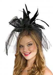 Halloween Mini Black Satin Witch Hat