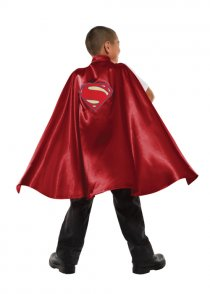 Childrens Size Deluxe Red Superman Cape