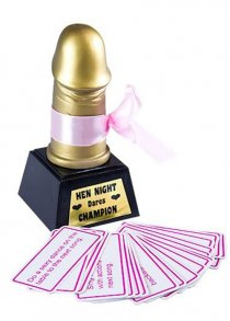 Hen Party Willy Award with Dare Cards