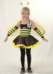 Childs Size Girls Bumble Bee Costume