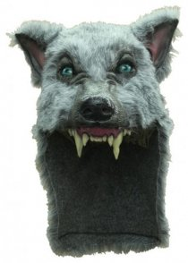 Deluxe Grey Wolf Mask Headpiece