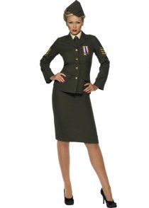 1940's Army Female Wartime Officer Costume