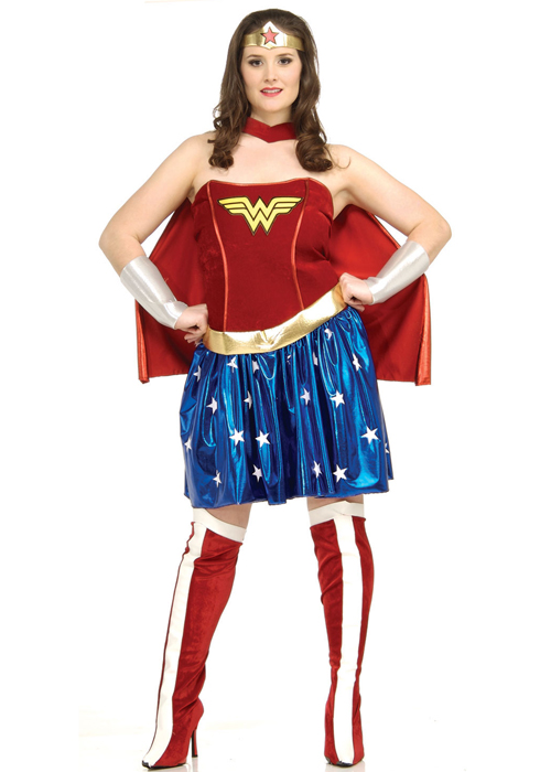 Womens Plus Size Wonder Woman Costume 17440 3395 Cheap Fancy
