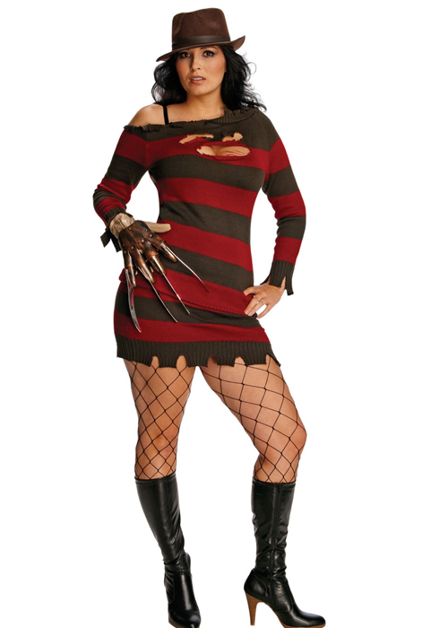 Womens Plus Size Freddy Miss Krueger Costume Ladies Plus Size Sexy