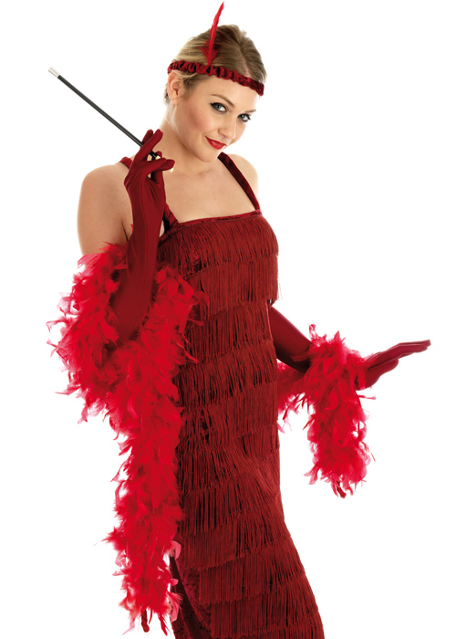 Fashion flapper red plus costume