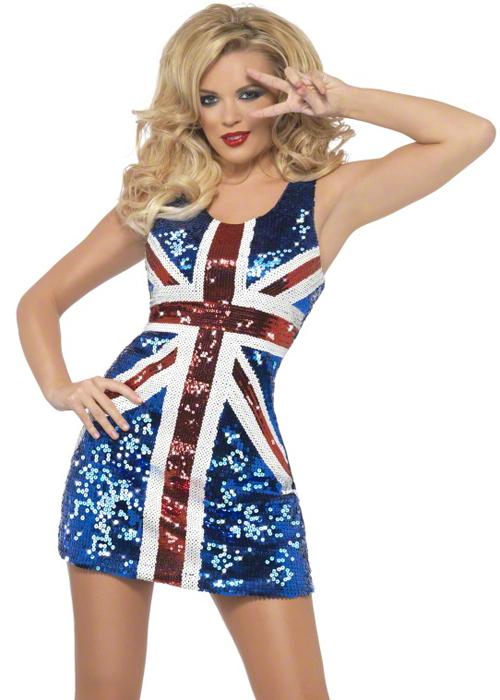 ladies geri ginger spice style union jack dress