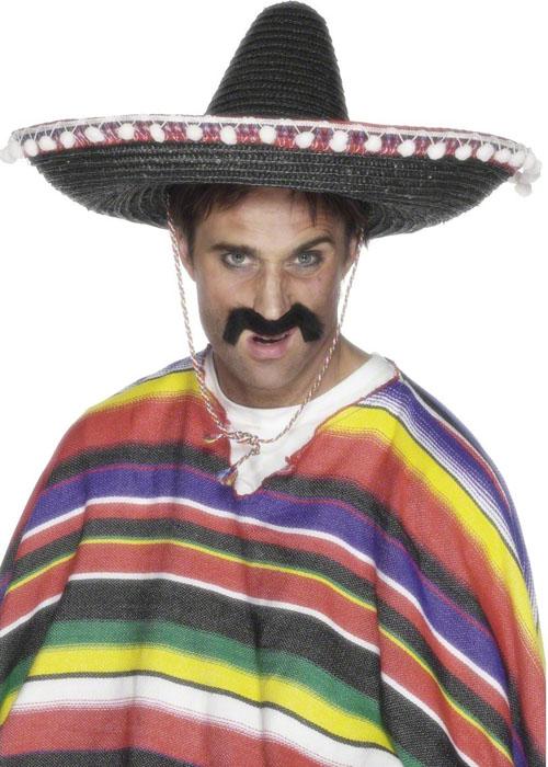 ac59f187e27d Western Mexican Gringo Black Sombrero  25509  - £8.49 - Cheap Fancy Dress  Outfits