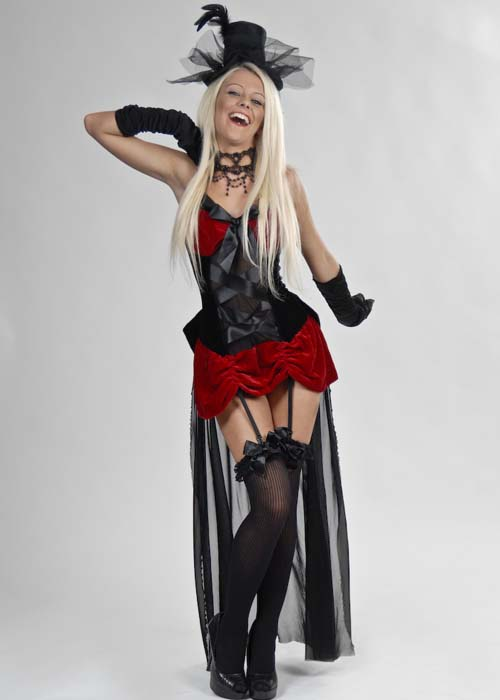 ladies sexy moulin rouge burlesque baby costume 3468