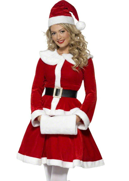 Ladies Mrs Christmas Miss Santa Costume Ladies Mrs Christmas Miss