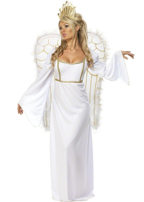 Ladies White Christmas Angel Costume ladies white christmas angel ...